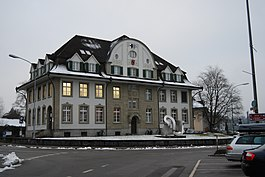 Building in the old town of Langenthal