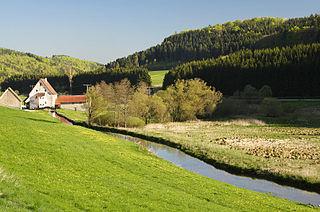 Lauchert river in Germany