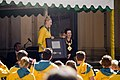 Lauren Jackson receiving the key of the City of Sydney from the Mayor, Clover Moore.jpg