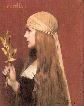 The Decameron - Lauretta, one of the narrators of the Decameron, painted by Jules Joseph Lefebvre