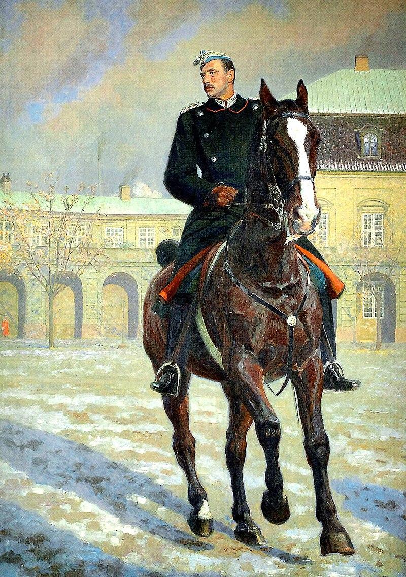 Лориц Туксен , Конг Кристиан Икс тиль Хест. Фра Кристиансборг Ридбейн, 1919 год, Нью-Йорк Карлсберг Fondet.jpg