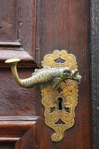 Zoomorphism - Fish-shaped door handle from Germany, an example of a zoomorphic artwork