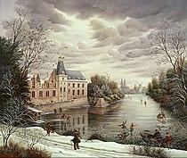 Le Château du Puy du Fou sous la neige par Raphaël Toussaint.jpg