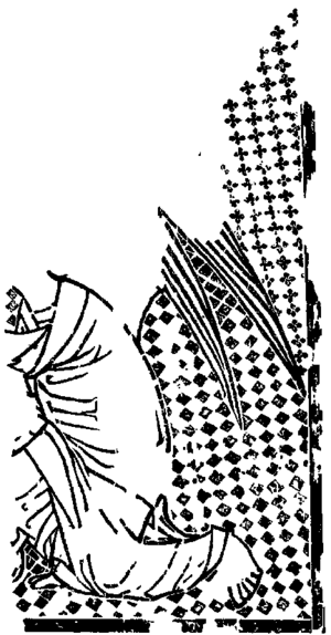 Bois Protat - The verso of shows a kneeling angel from an Annunciation scene.