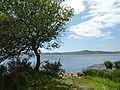 Le lac Réservoir de Saint-Michel et le mont Saint-Michel-de-Brasparts vus depuis la route du Libist à Botmeur.JPG