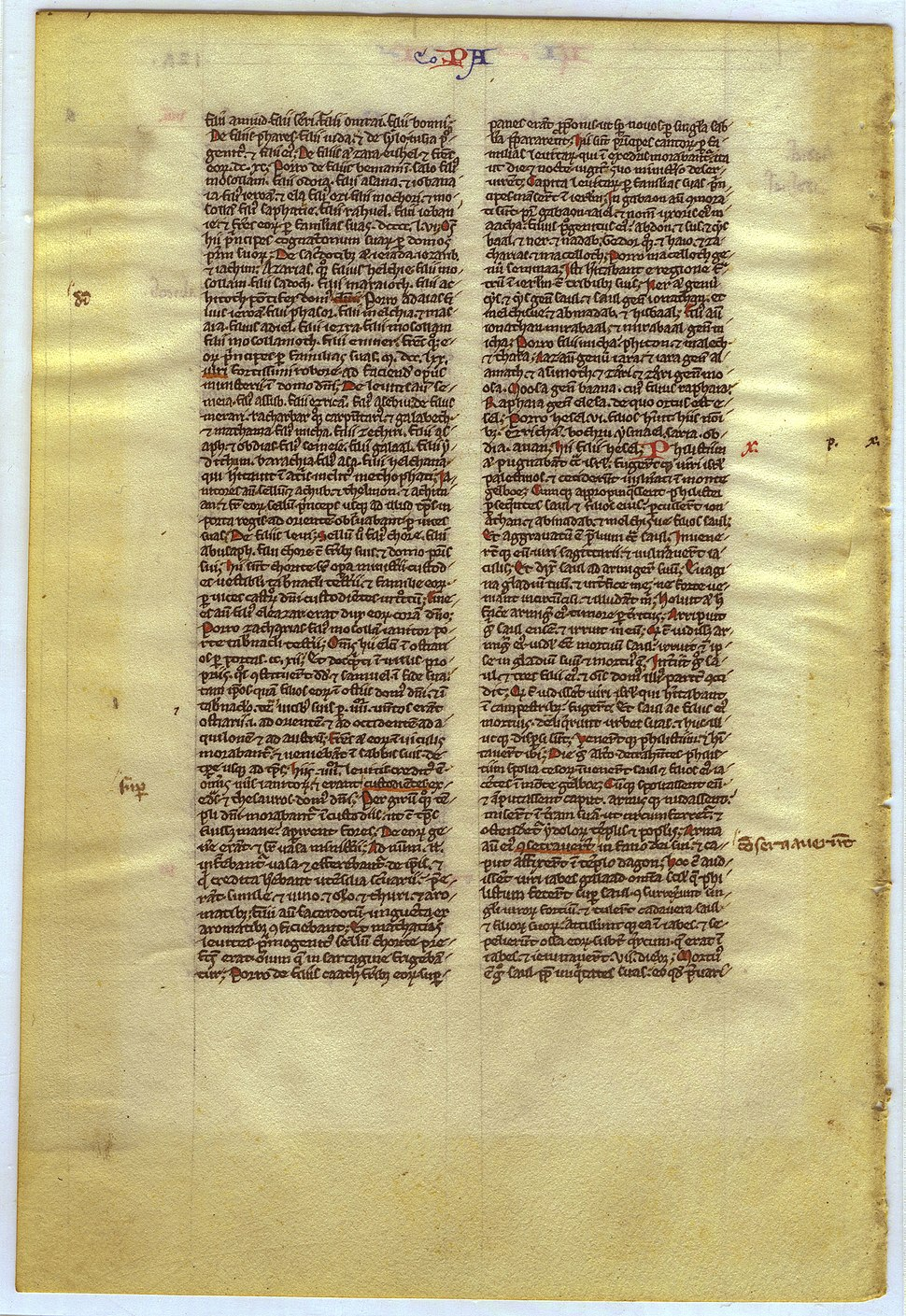 Leaf of I Chronicles (recto) (8675415344)