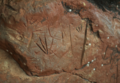 Leaf petroglyph Lorito Picada rock art from Amambay, Paraguay.png