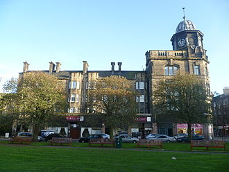 Great Junction Street - Former Leith Provident building viewed from Taylor Gardens