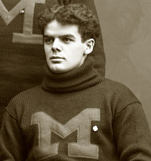 Leo J. Keena - Keena cropped from 1897 University of Michigan team photograph