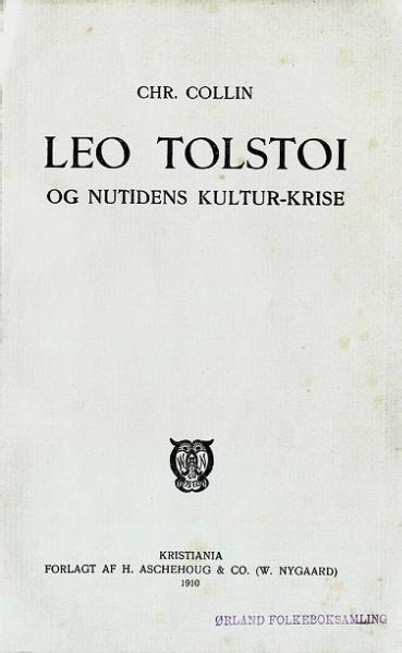 File:Leo Tolstoi og nutidens kultur-krise.djvu