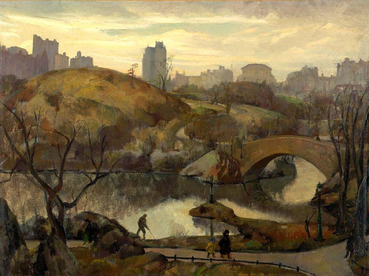 File Leon Kroll Scene In Central Park 1922 Jpg