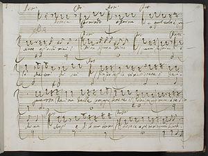 Leonardo Vinci - Vinci's manuscript of Partenope
