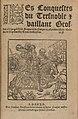 Les conquestes du tres noble et vaillant Geoffroy a la grand dent (ed Paris, Nicolas Bonfons).jpg