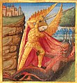 Liénard de Lachieze - Missel romain copié en 1492 Saint Michel terrassant le démon.jpg