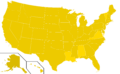 Libertarian Party presidential election results, 1980, ordinal (United States of America).png