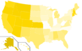 Libertarian Party presidential election results, 1988 (United States of America).png