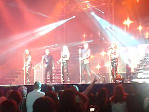 Liberty X - Liberty X performing live in Glasgow, as part of The Big Reunion arena tour.