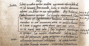 History of Lithuania - Lithuania's name first written in 1009, in the annals of the Quedlinburg Abbey, Germany.