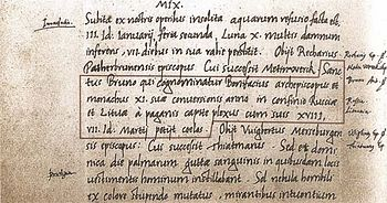 The first mention of Lithuania in the Quedlinburg annals