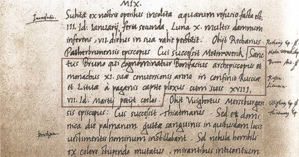 Lietuvos vardas. The first name of Lithuania in writing 1009