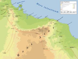Limes Tripolitanus - Map of the Limes Tripolitanus