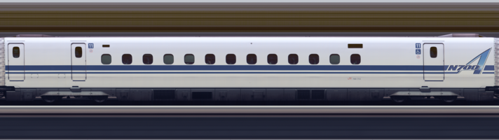 Line scan photo of Shinkansen N700A Series Set G13 in 2017, car 11.png