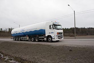Gasum - Image: Liquid natural gas, land transportation, Finland