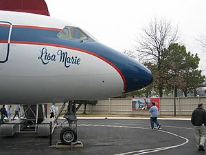 Lisa Marie Presley - Elvis's plane named after his daughter.