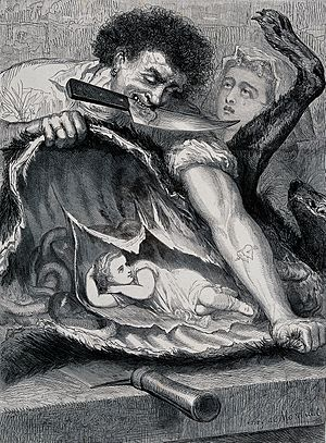 Henri de Montaut - Illustration for Little Red Riding Hood (Librairie du Petit Journal, 1865).