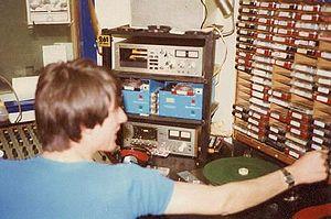 MV Mi Amigo - A studio on board Mi Amigo (1970s)