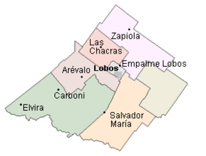 Lobos - Lobos Administrative Area and its divisions