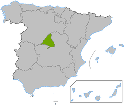 Mapa ning Madrid
