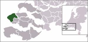 Dishoek - Image: Locatie Veere