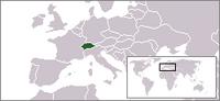 Locatie van Confédération Suisse / Schweizerische Eidgenossenschaft / Confederazione Svizzera / Confederaziun Svizra