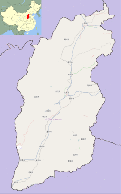 Dai County is located in شنسی