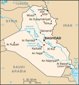 Musayyib - Location of Musayyib shown in a red dot