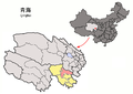 Location of Maqên within Qinghai (China).png