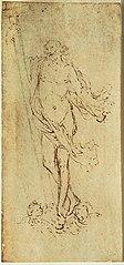 Ébauche d'un tableau (?) de la Résurrection du Christ