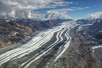 Logan Glacier - The Logan Glacier from the air