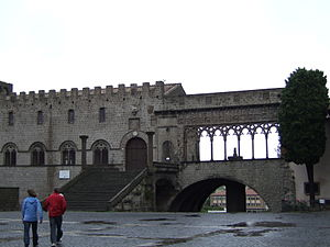 Viterbo Papacy - The loggia of the papal palace
