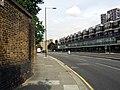 London, Woolwich Dockyard, old factory walls opposite Morris Walk Estate 3.jpg