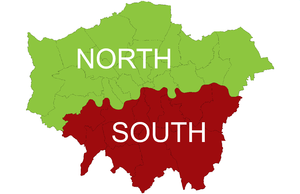 North London - North and South London as defined by the Boundary Commission