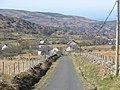 Looking down Lon Cefn Waen towards Blaen y waen Cottage and Capel Cefnywaen - geograph.org.uk - 390504.jpg