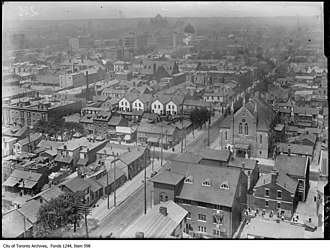 First Chinatown, Toronto - The north eastern extents of First Chinatown at the intersection of  Bay and Dundas street.