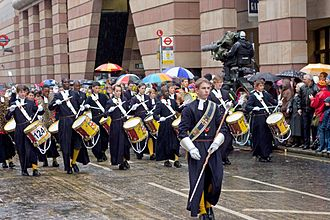 The Christ's Hospital Band participating in the Lord Mayor's Show in 2008 Lord Mayor's Show 2008 Christ's Hospital.jpg