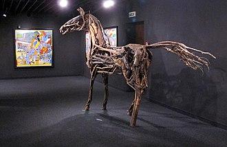Outsider art - View inside the Collection de l'art brut museum, Lausanne
