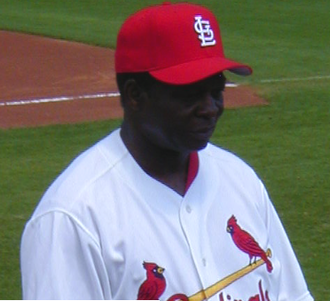 Lou Brock - Lou Brock was part of the Cardinals' coaching staff during the team's 2005 spring training.