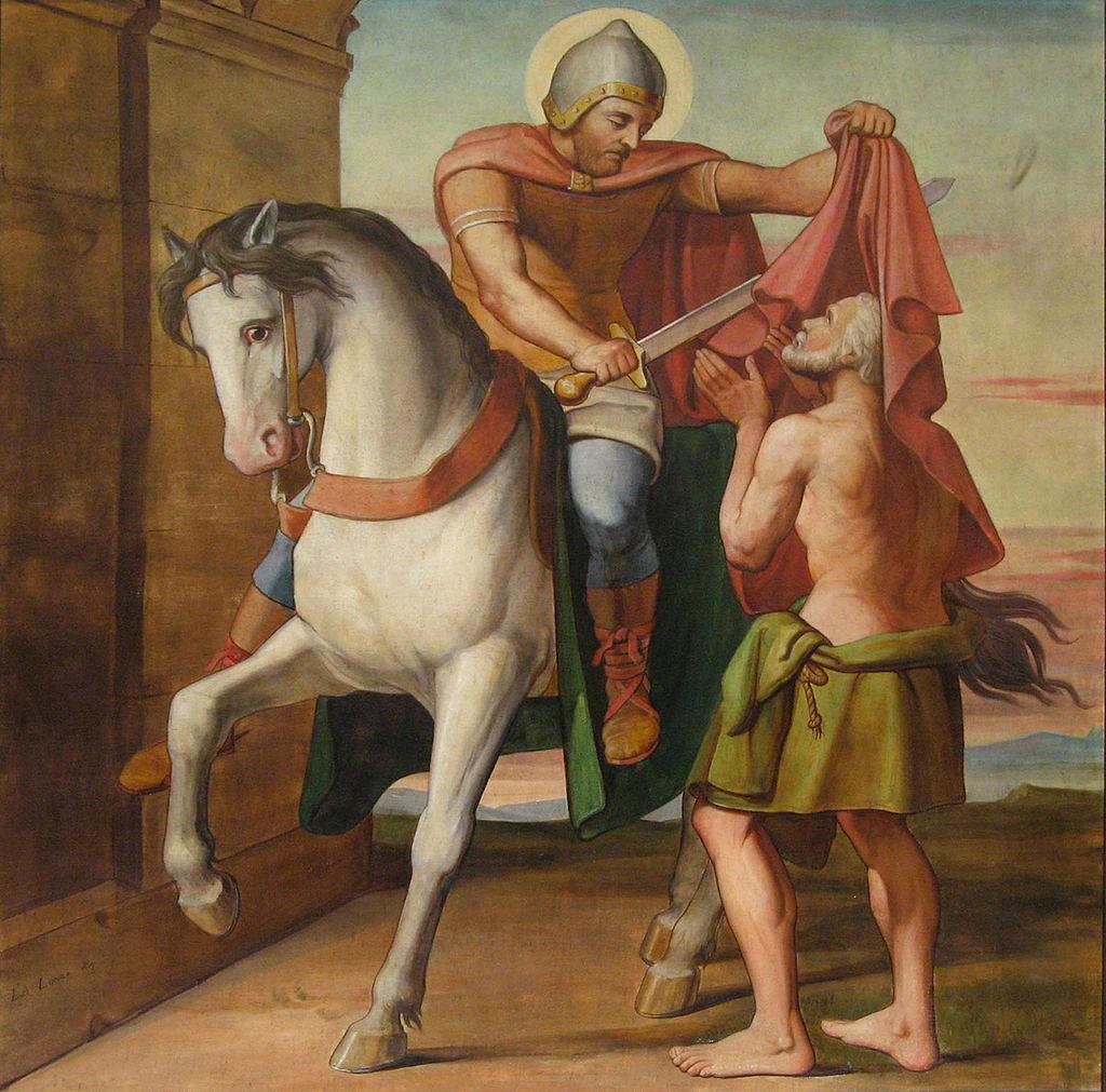 Louis Anselme Longa, La charité de saint Martin