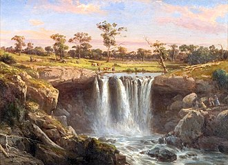 Art Gallery of Ballarat - Image: Louis Buvelot One of the Falls of the Wannon, 1872
