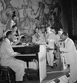Tympany Five - Image: Louis Jordan's Typany Five, New York, N.Y., between 1946 and 1948 (William P. Gottlieb 04751)
